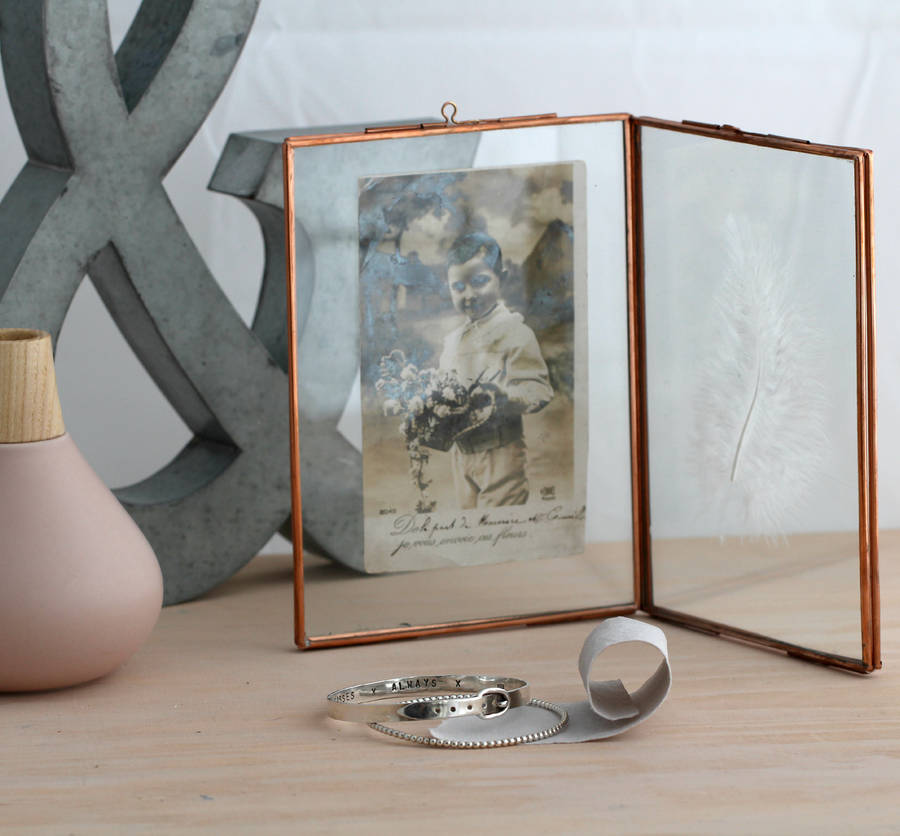 vintage style copper photo frame
