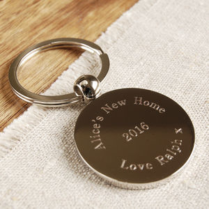 Personalised Round Key Ring - keyrings