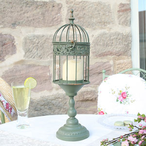 Bird Cage Candle Holder Lantern - lights & lanterns