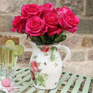 Personalised Peony Pitcher Jug - tableware