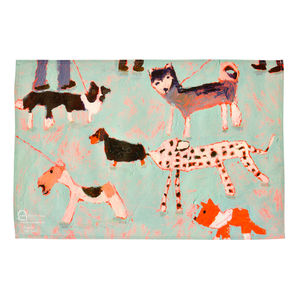 'Dogs Day Out' Tea Towel