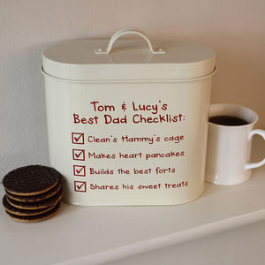 Personalised Checklist Tin - storage & organising