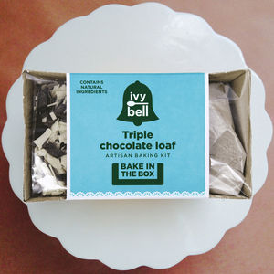 Triple Chocolate Loaf 'Bake In The Box' Kit - cakes & sweet treats