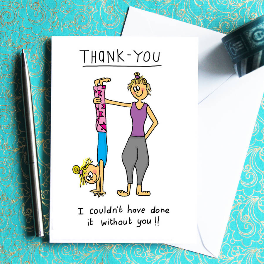 Thank you card for yogis and yoga teachers by indieberries thank you card for yogis and yoga teachers m4hsunfo