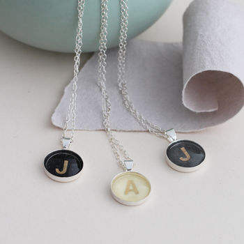 Personalised Vintage Letter Necklaces