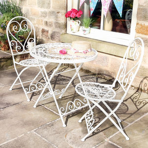 Country Cottage Three Piece Bistro Set - garden furniture