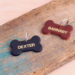 Personalised Leather Dog Name Tag - best collars & tags