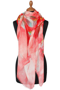 Art Scarf Red