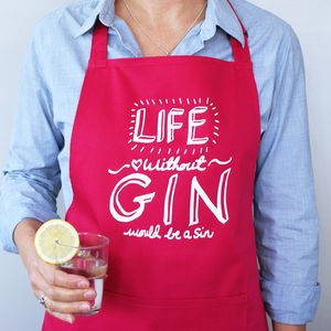 Life Without Gin Apron - winter sale
