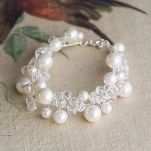 Bonnie Crystal And Pearl Bracelet - winter sale