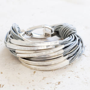 Katia Silver And Thread Engraved Bracelet - women's sale