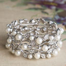 Catherine Chunky Crystal And Pearl Bracelet