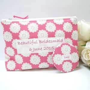 Bridesmaids Cosmetic Bag And Pocket Mirror - the morning of the big day