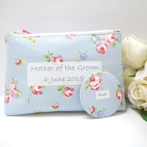 Mother Of The Groom Cosmetic Bag And Pocket Mirror - the morning of the big day