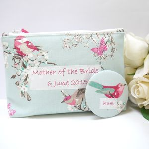 Mother Of The Bride Cosmetic Bag And Pocket Mirror