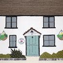 Large Textile Artwork Of Your House
