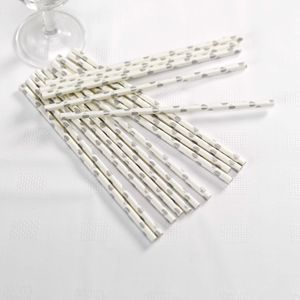 Gold And Silver Heart Party Straws