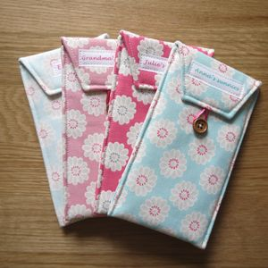 Personalised Daisy Fabric Glasses Case