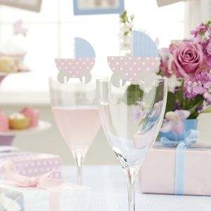 Baby Shower Glass Toppers - tableware