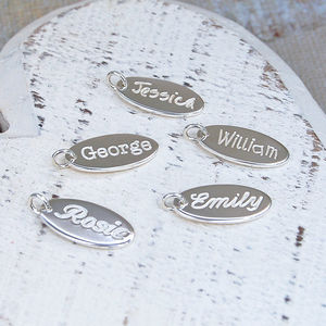 Handmade Personalised Sterling Silver Name Charm