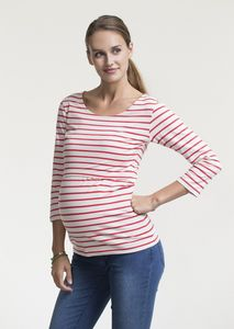 Maternity And Breastfeeding Breton Stripe Top - women's fashion