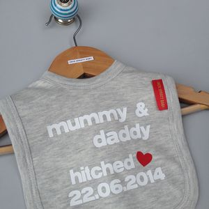 Personalised 'Getting Hitched' Bib - baby care