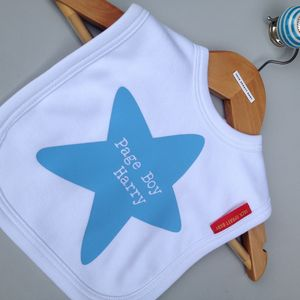 Personalised 'Pageboy' Bib - baby care