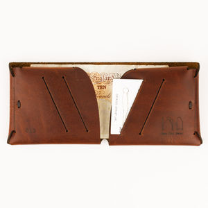 Origami Natural Leather Wallet - 30th birthday gifts