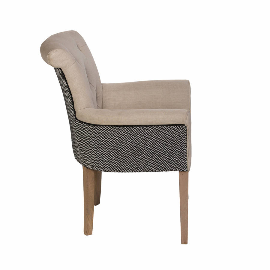otis button back armchair