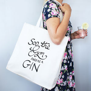 Sod The Gym Shopper Bag - women's accessories