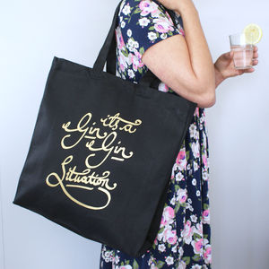 It's A Gin Gin Situation Shopper Bag - shoulder bags