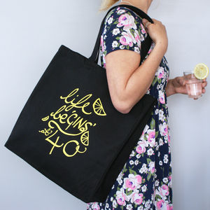 Personalised Life Be Gins At… Shopping Bag - slogan fashion
