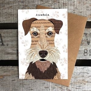 Airedale Dog Card - view all gifts
