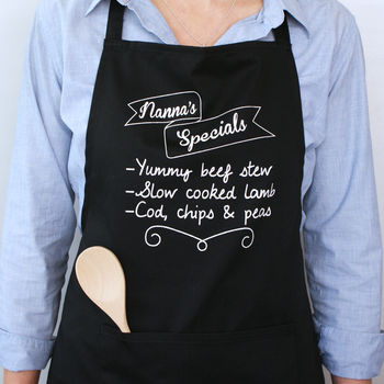 Personalised Your Specials Board Apron