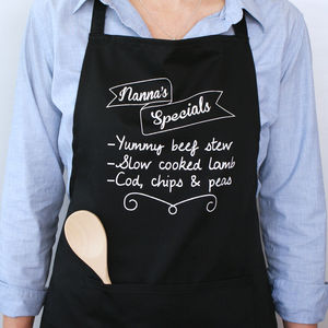 Personalised Your Specials Board Apron - home sale
