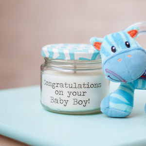 'Congratulations On Your Baby Boy/Girl' Candle - candles & home fragrance