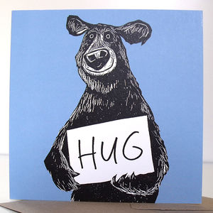 Bear Hug Greeting Card - get well soon cards