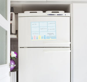 British Seaside Magnetic Fridge Planner