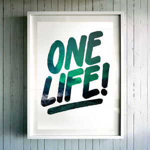 'One Life!' Fine Art Giclée Print - modern & abstract
