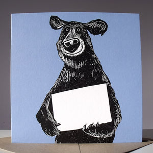 Bear Blank For Your Own Message Card - winter sale