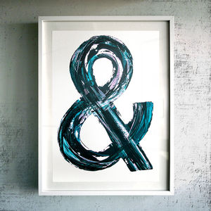 'And' Fine Art Giclée Print