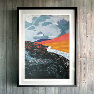 Land Of Fire And Ice. Fine Art Giclée Print - modern & abstract