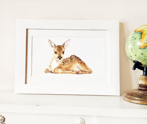 Little Fawn Fine Art Print - pictures & prints for children