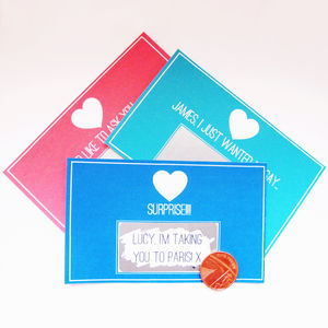 Personalised Message Scratchcard - cards, ribbon & wrap
