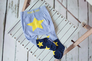 Blue And Yellow Star Tights - clothing