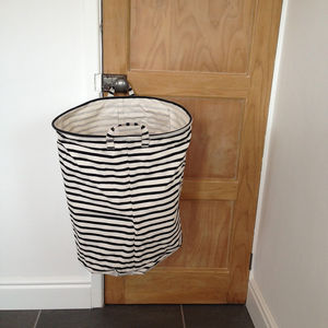 Striped Monochrome Storage Bag