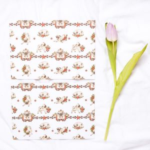 Tattooed Pugs Wrapping Paper Two Sheets - wrapping paper