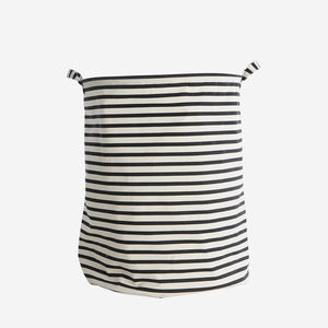 Striped Monochrome Storage Bag - living room