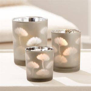 Leaf Silhouette Candle Holder - dining room