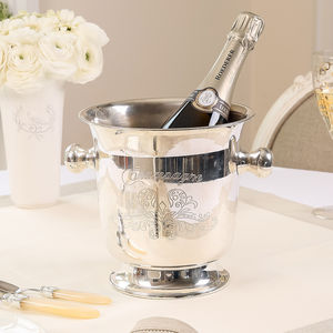 Sparkling Moments Silver Plated Champagne Bucket - 25th anniversary: silver
